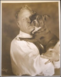 Chaliapin with bulldog Mishkin