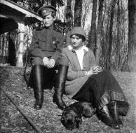 Grand Duchess Tatiana and Tsarevich Aleksei, c. 1918